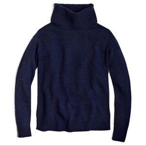 J. Crew Merino Navy Warmspun Turtleneck Sweater XS